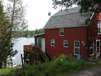 Side view of the red cottage