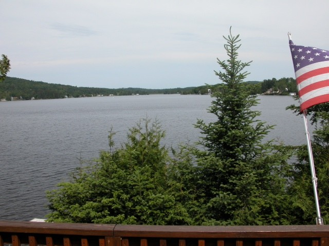 View of the lake from the Red Cottage