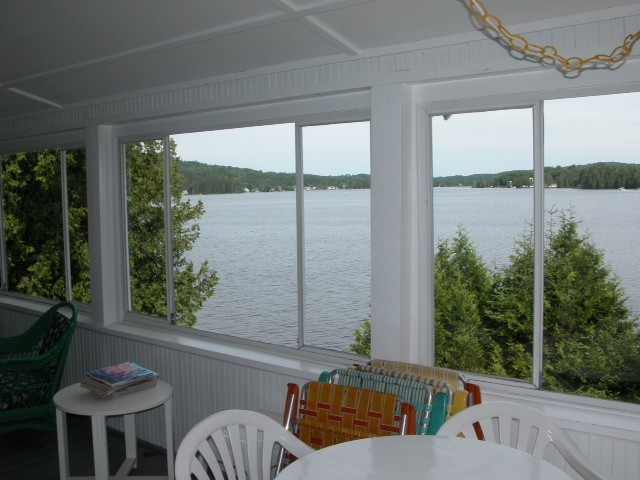 View of lake seen from inside of the White House